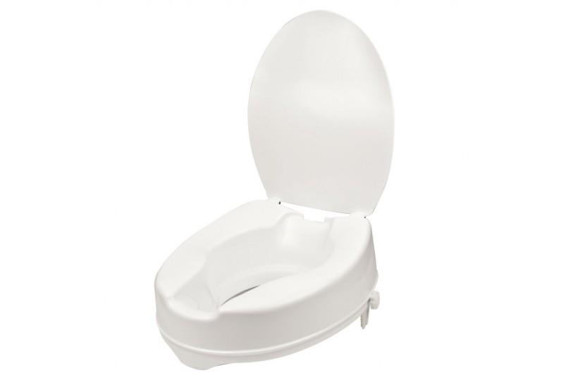 Rehausseur de toilettes avec couvercle - 10 cm